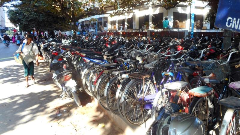 Bicycles in Mandalay