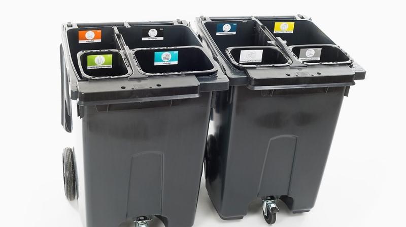 Swedish recycling bins