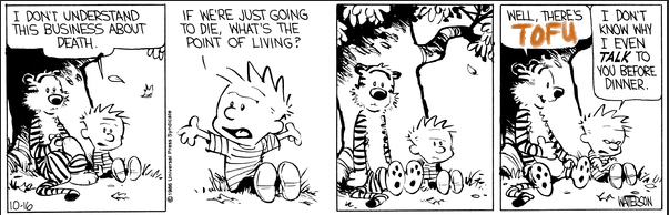 Calvin & Hobbes about death