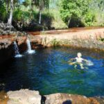 Cooling off in natural pool