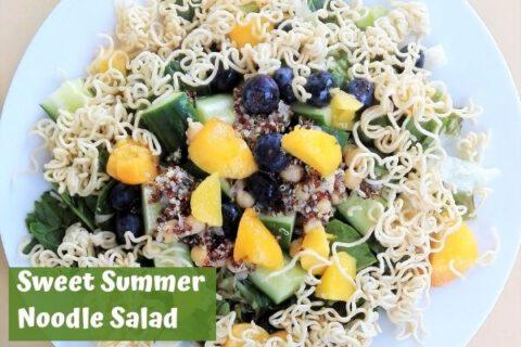 Sweet summer noodle salad